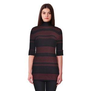 Style & Co   Plum Black Striped Sweater - Large